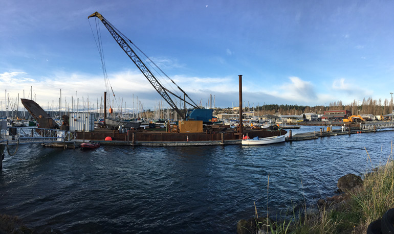 Work Continues on Boat Haven Boat Ramp Expansion