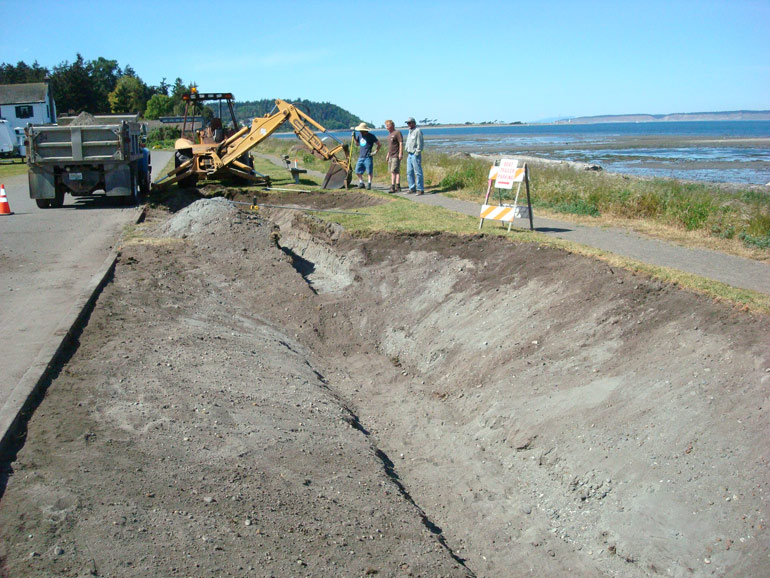 Construction Underway on Point Hudson Rain Garden